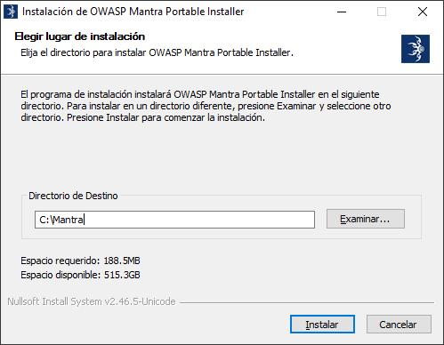 Instalacion De Owasp Mantra Portable Installer