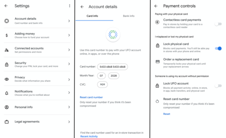 Google Card Privacy Security