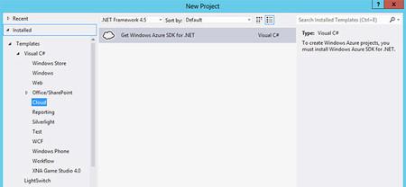 Django en Visual Studio 2012, Get Azure SDK