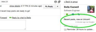 Gmail empieza a incluir mensajes de Google+ en su barra lateral