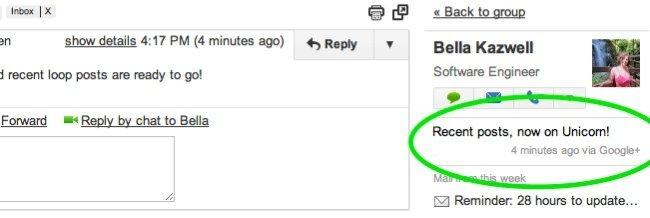 gmail mensajes google plus