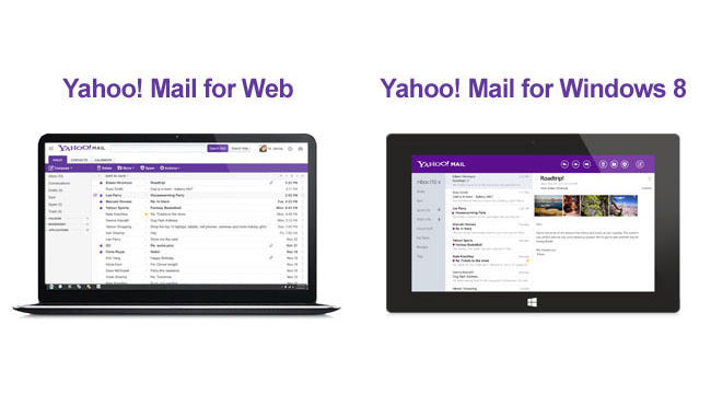 Nuevo Yahoo! Mail, web y Windows 8