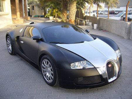Bugatti Veyron negro mate