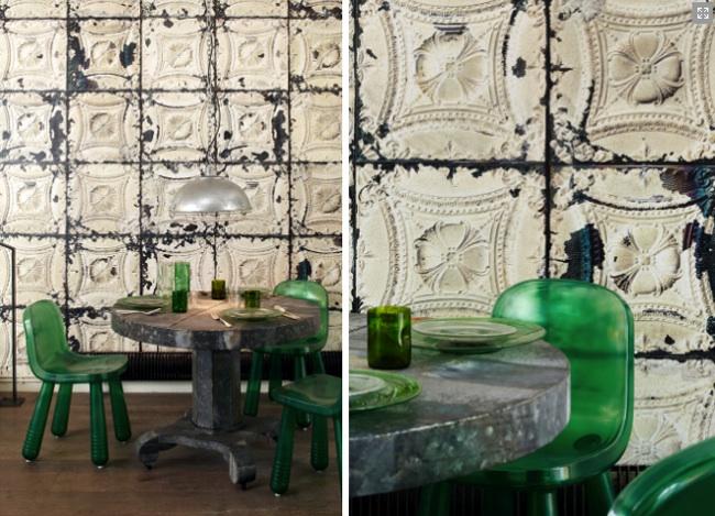 Papel pintado inspirado en azulejos antiguos - Empapelar sobre azulejos ...