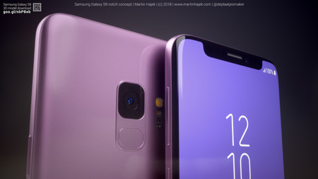 Samsung Galaxy S9 con notch