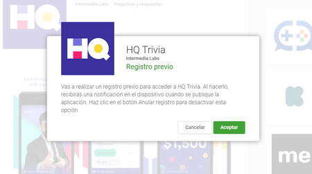 Hq trivia Android registro