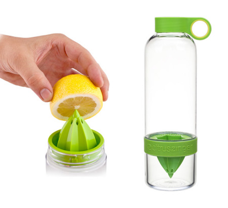 Citrus Zinger, botella para hacer tu propia agua frutal