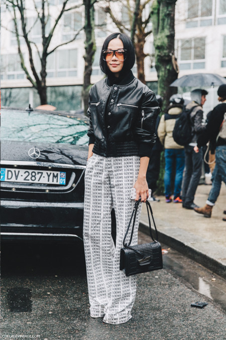 Pfw Paris Fashion Week Fall 2016 Street Style Collage Vintage Yoyo Cao Loewe Trousers 3