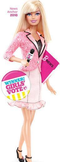 Barbie presentadora de noticias
