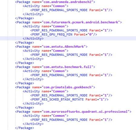 Código Pruebas Benchmark