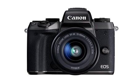 Ahora en Amazon tienes una sin espejo con objetivo 15-45mm como la Canon EOS M5 más barata que nunca, por 549 euros