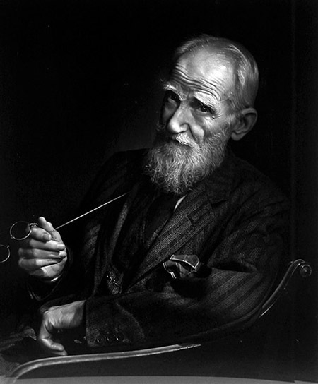 Retrato de Yousuf Karsh al escritor irlandés George Bernard Shaw
