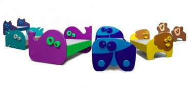 Divertidas y coloridas camas infantiles con formas de animales