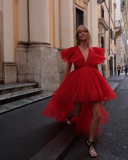 Giambattista Valli Hm Red Dress Tulle 10
