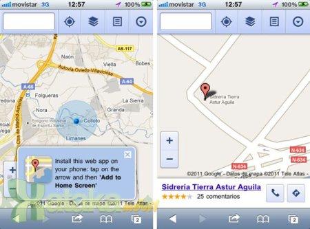 Google Maps llega a los navegadores móviles con todas las funciones