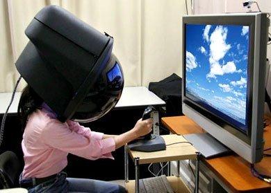 Extraño casco de Toshiba
