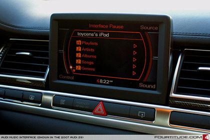 Un vistazo a la nueva interfaz de Audi para el iPod
