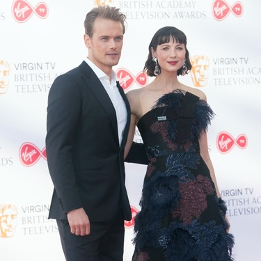 Caitriona Balfe, la actriz de Outlander, triunfa en los BAFTA TV con un Delpozo ultra sofisticado