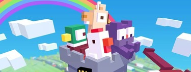 The Crossy Road castle invites us to go up and down in a colorful setting: App of the Week