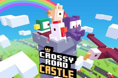 Crossy Road Castle nos invita a escalar sin parar por un colorido escenario: App de la Semana