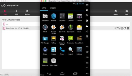 GenyMotion emulador Android
