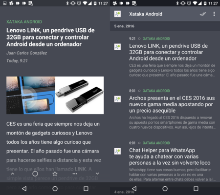 Quote: lo nuevo del creador de Fenix para Android es un lector de RSS que pinta así de bien