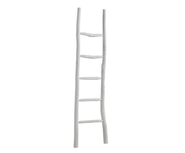 Escalera de mano blanca