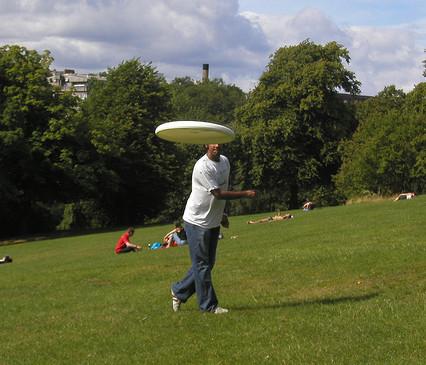 En primavera, disfruta del frisbee