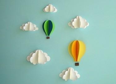 Una buena idea: detalles en 3D en las paredes de la habitación infantil
