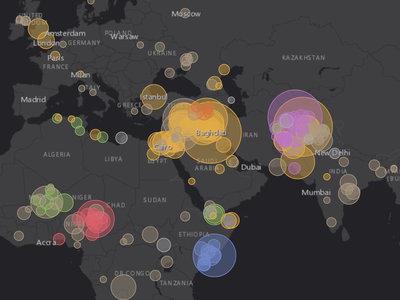 El mapa que te permite seguir todos los atentados terroristas de 2017 en tiempo real