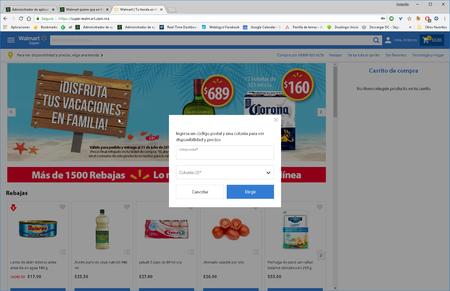 Walmart En Linea Codigo Postal