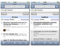 Nuevo Google Reader optimizado para iPhone