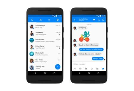 Facebook Messenger ahora con diseño material design