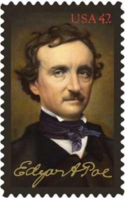 Sello conmemorativo del bicentenario de Poe