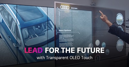 LG presenta su nueva generación de paneles transparentes: el nuevo Transparent OLED Touch es ahora táctil
