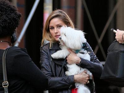 Olivia Palermo es la mujer de rojo por las calles de Nueva York