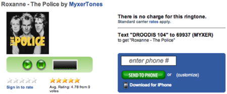 Myxer, tonos de llamada para iPhone