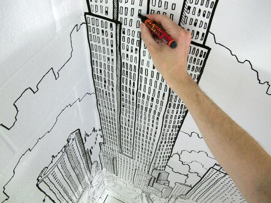 Foto de Global City, un gran mural con la ciudad de ciudades (6/7)