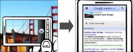 Google Goggles realiza búsquedas de lo que le muestres