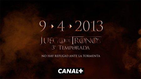 La tercera temporada de 'Juego de Tronos' llegará a Canal + el 9 de abril