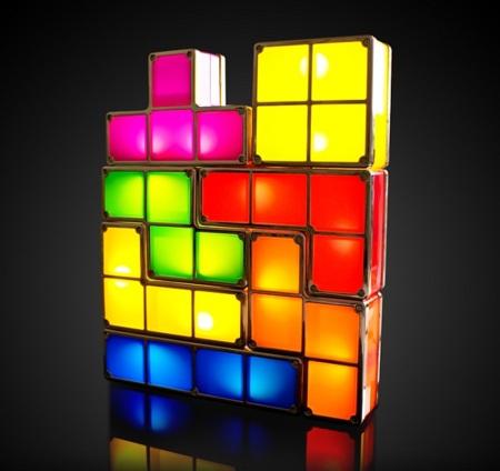 Lámparas Tetris, colorido y versátil detalle