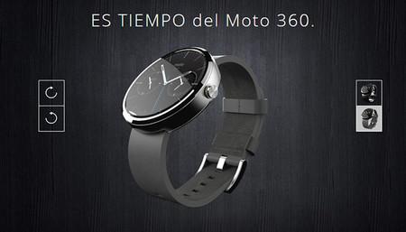 Moto 360 con correa de piel
