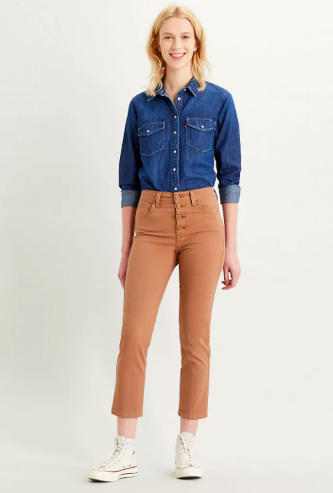 724 Cropped Utility Jeans