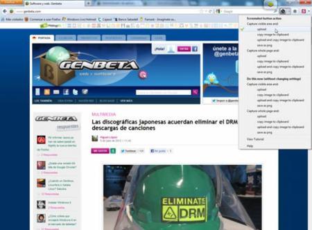 Screenshot para Firefox.