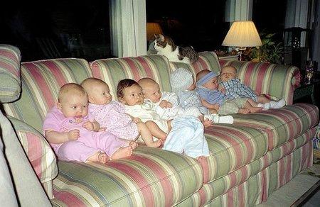 Bebés en fila