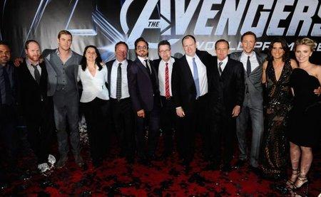 El equipo de Los Vengadores en el estreno de la película en Hollywood