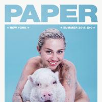 Miley Cyrus se marca un Kim Kardashian desudándose en la última portada de Paper Magazine