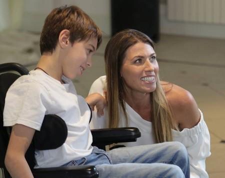 Ian y Sheyla en la presentación del corto
