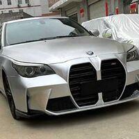 ¡No por favor! la parrilla del nuevo BMW M3 montada en un Serie 5 E60 y el resultado sigue sin convencer