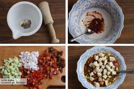 Gazpacho en ensalada paso a paso